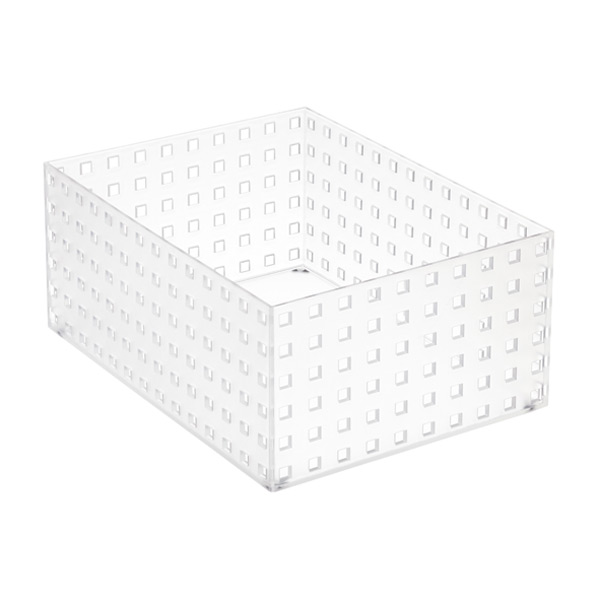"Like-it® Bricks 11"" Wide Tall Bin Translucent"