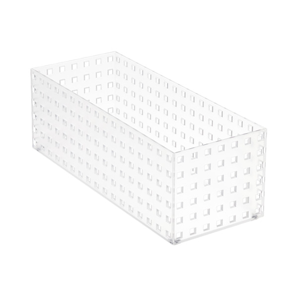 "Like-it® Bricks 13-3/4"" Medium Tall Bin Translucent"