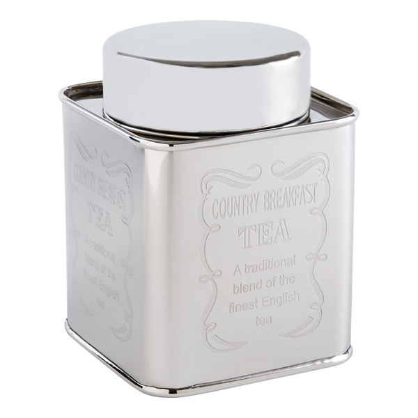 Country Breakfast Tea Tin Stainless Steel