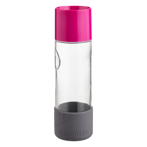 19 oz. Day Tripper Glass Bottle Pink