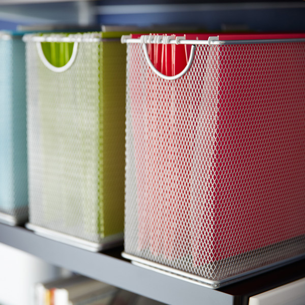 Silver Mesh Desktop File The Container Store