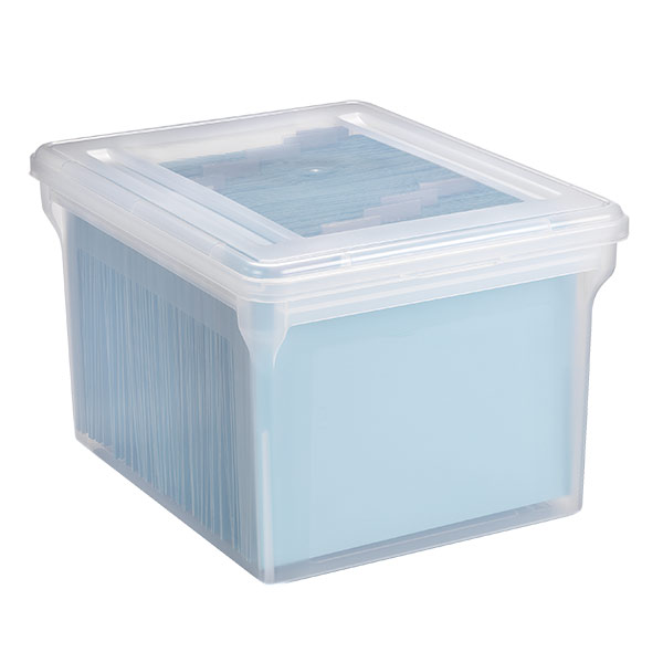clear stackable file tote box