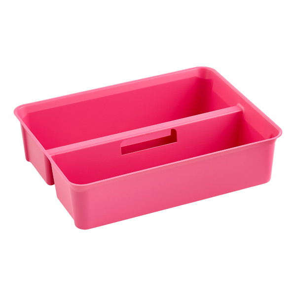 Colorwave Smart Store Handled Tray Pink