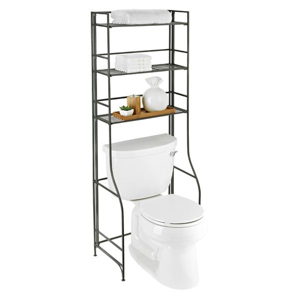 Bathroom Etagere iron folding bath etagere | the container store
