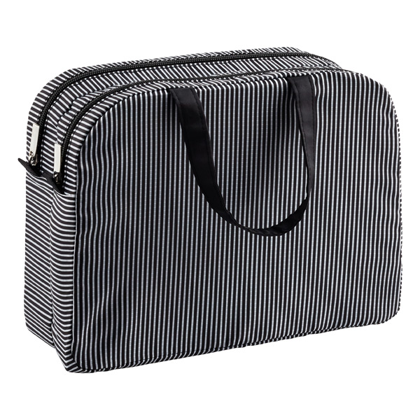 Resort Washable Weekender Black & White Stripe