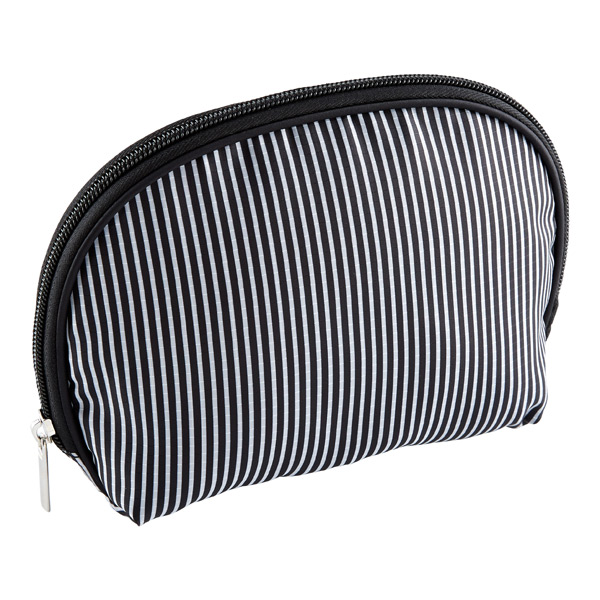 Resort Washable Cosmetics Bag Black & White Stripe