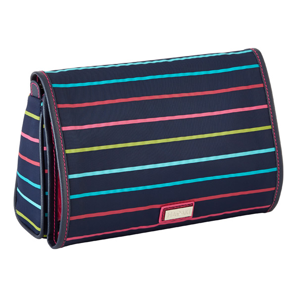 Valeria Toiletry Organizer Navy w/ Stripes