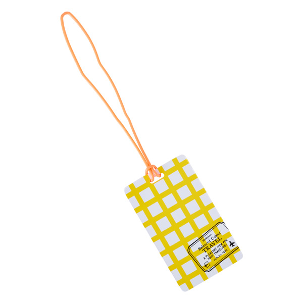 Luggage Tag Yellow Check