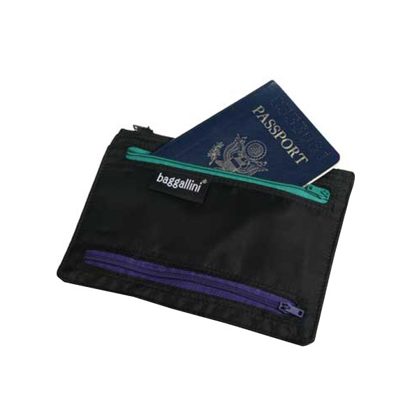 Passport & Currency Organizer Black