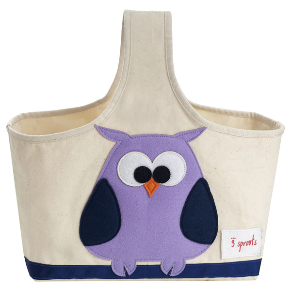 3 Sprouts Owl Canvas Storage Caddy   The Container Store