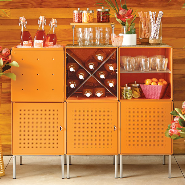 QBO® Steel Cube Bar Enameled Orange
