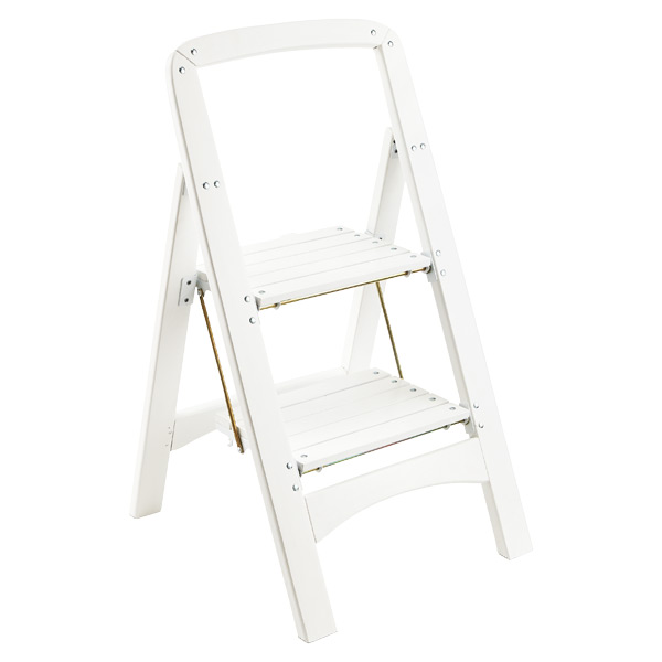 White 2-Step Wooden Stool  sc 1 st  The Container Store & Step Stools Folding Step Stools u0026 Step Ladders | The Container Store islam-shia.org