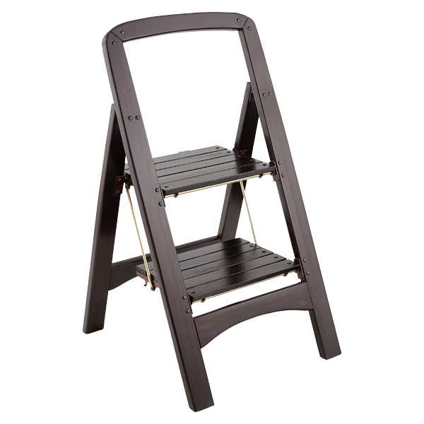 Walnut 2-Step Wooden Stool  sc 1 st  The Container Store & Walnut 2-Step Wooden Folding Stool | The Container Store islam-shia.org