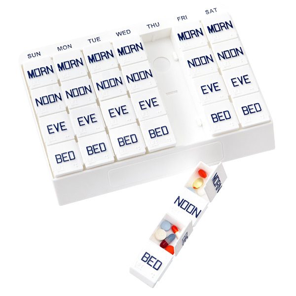 Weekly Pill Organizer White