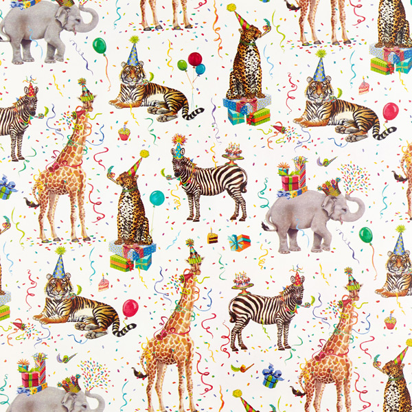 Christmas Animals Design Gift Wrapping Paper Sheet /& Tag Quality NEW