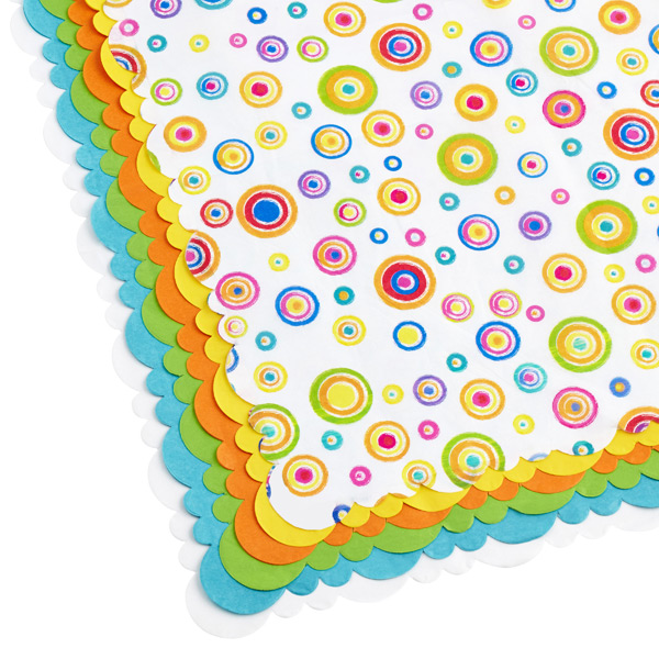 Tissue Sheets Circles/Brights Pkg/24
