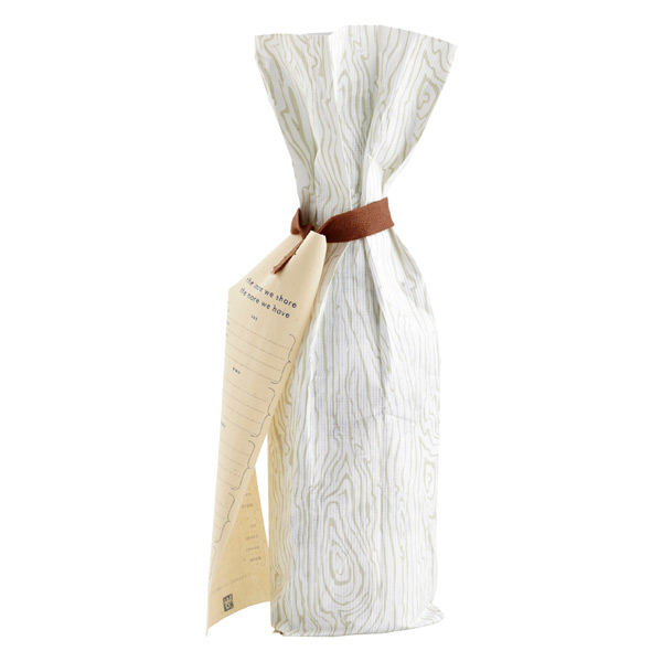 Reusable Wine Bag Woodgrain