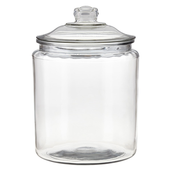 anchor hocking glass canisters with glass lids the container store. Black Bedroom Furniture Sets. Home Design Ideas