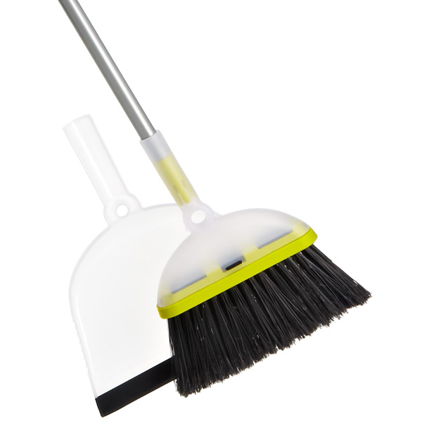 Casabella® Ergo Broom & Dustpan Set Translucent/Lime