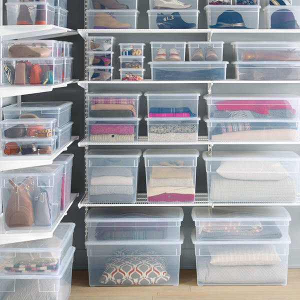 Storage Bins For Clothes In Closet