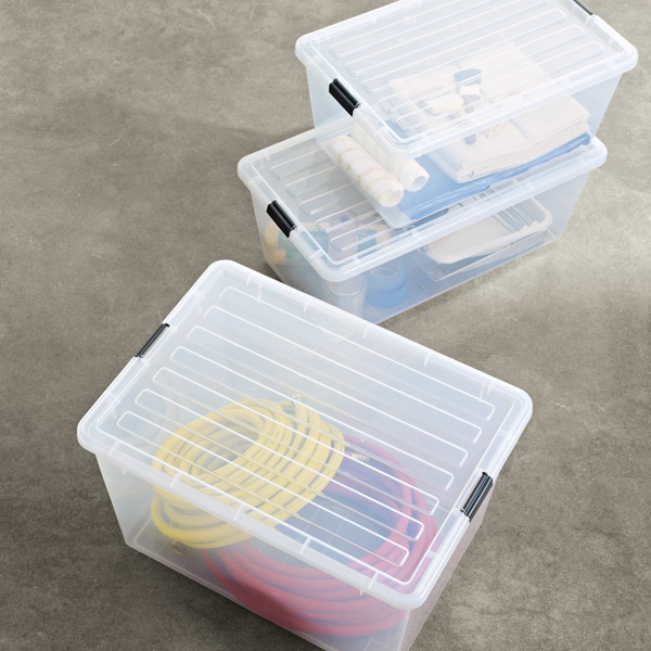 Wonderful Clear Tote With Locking Lid