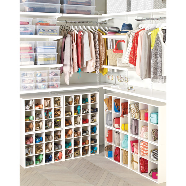12 pair shoe organizer the container store rh containerstore com closet built in shelves for shoes closet organizers for shoes and purses