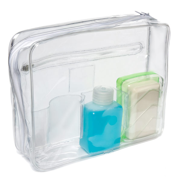 Bath Care Case with Pockets Clear
