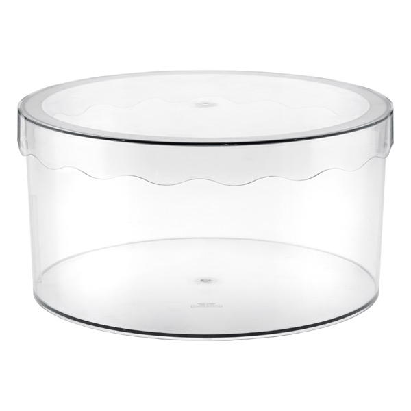 Large Clarity Hat Box Translucent