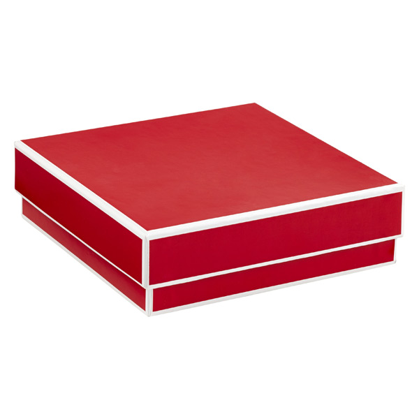 Jewelry Box with Border Red