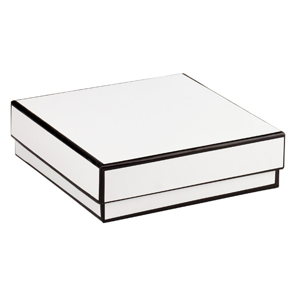 Jewelry Box with Border White