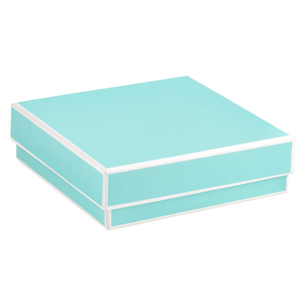 Jewelry Box with Border Aqua