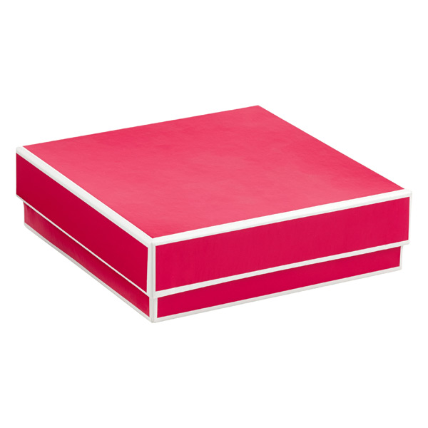 Jewelry Box with Border Fuchsia