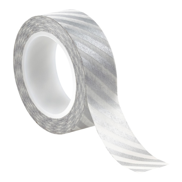 Decorative Tape Silver Stripe