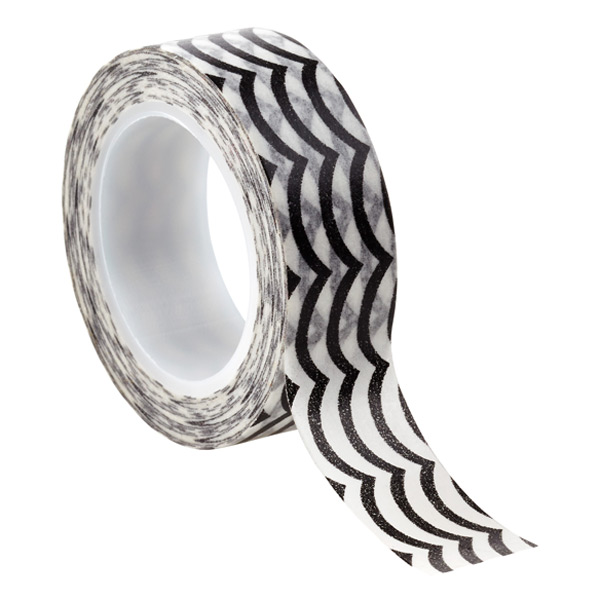 Waves Decorative Tape Black