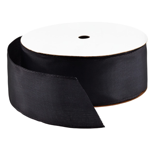 Wired Ribbon Bright Black