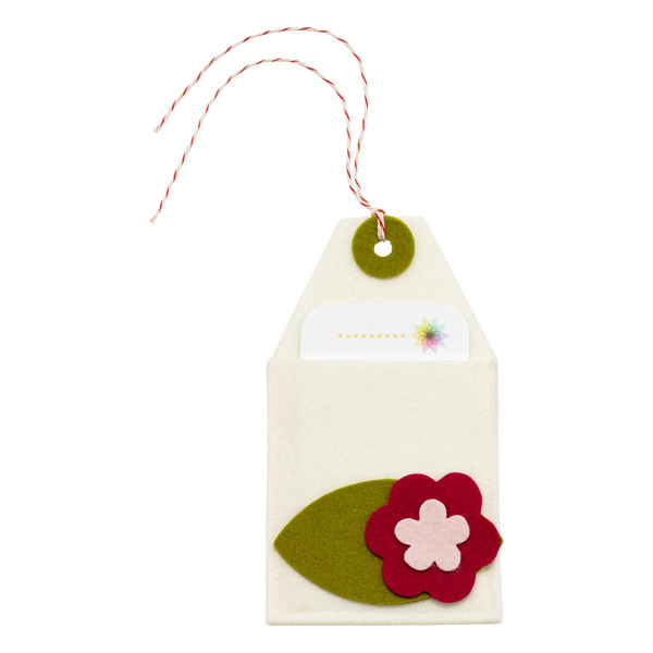 Gift Card Holder Felt Flower Ivory