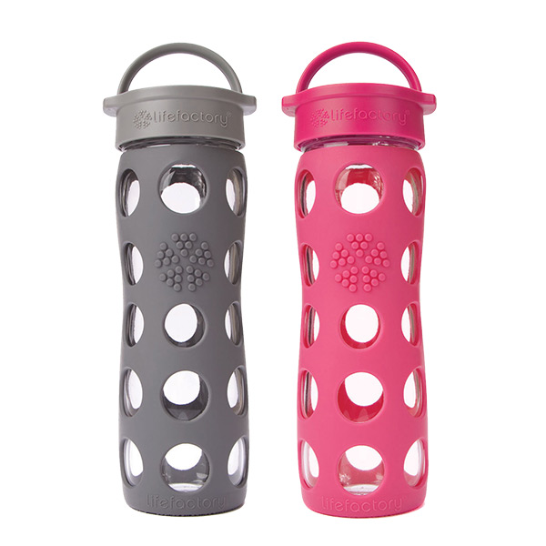 16 oz. Glass & Silicone Water Bottle