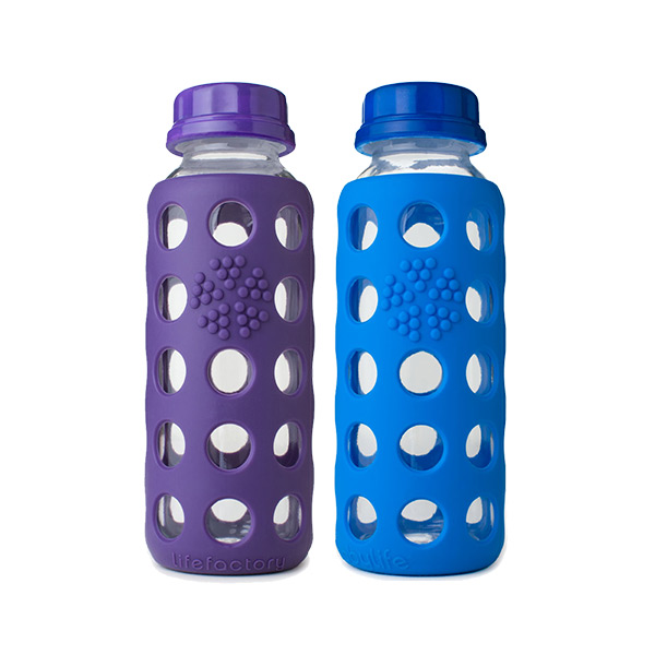 9 oz. Glass & Silicone Water Bottle