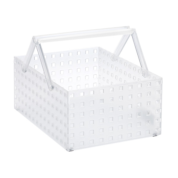 "Like-it® Bricks 11"" Wide Tall Tote Translucent"