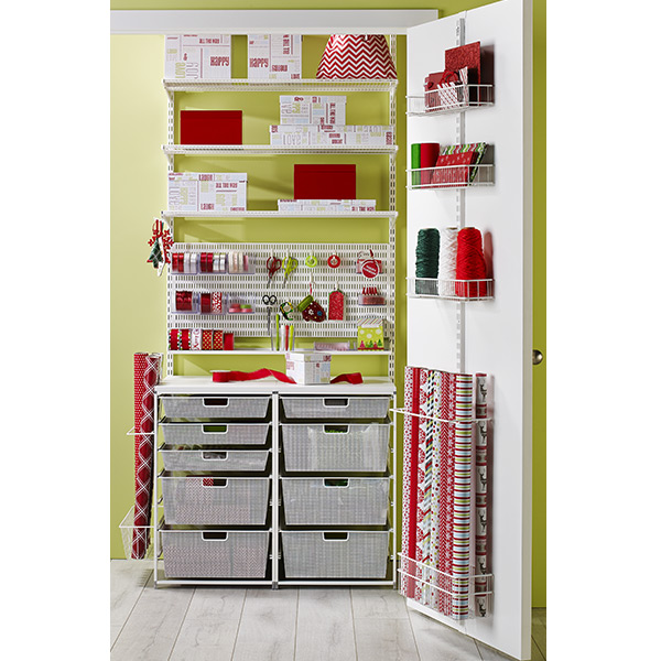 White elfa Wrappers Dream Closet The Container Store