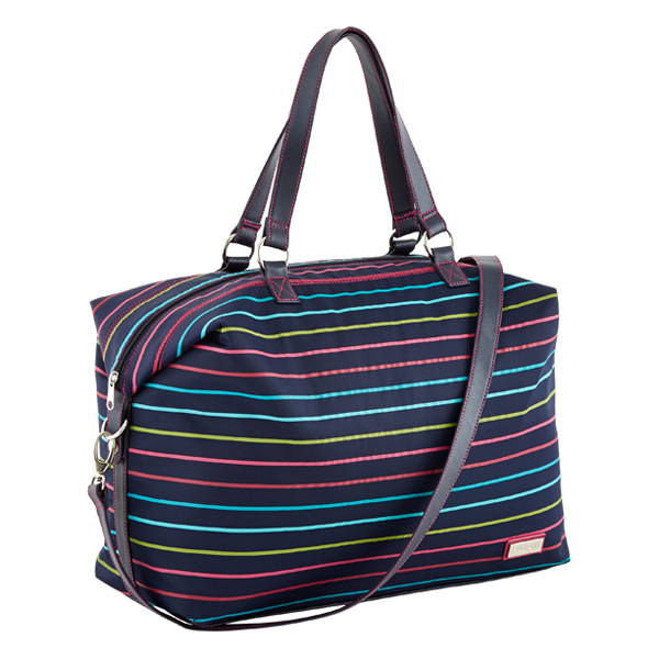 Valeria Duffel Navy w/ Stripes