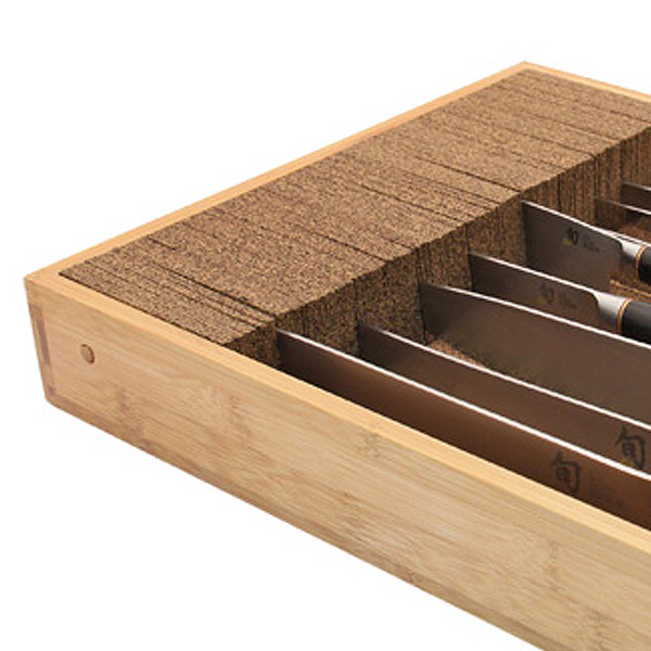 Deluxe Bamboo Knife Dock™