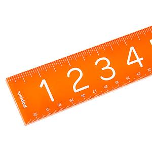 Poppin Acrylic Ruler Orange