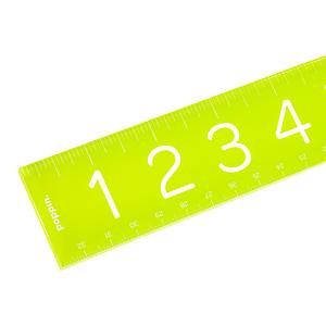 Poppin Acrylic Ruler Lime Green