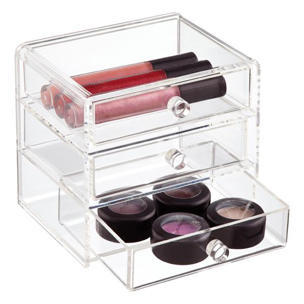 Acrylic 3 Drawer Box