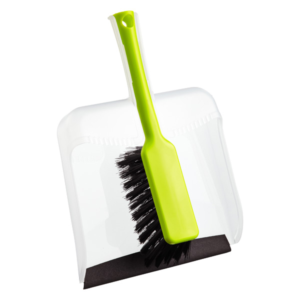 Square Dustpan Set Lime