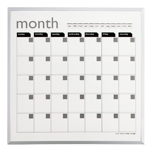 Magnetic Monthly Planner White