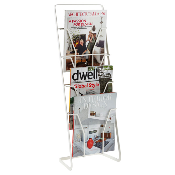 Tower Magazine Stand White
