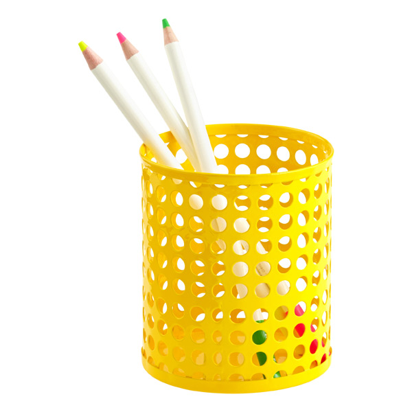 Edison Pencil Cup Yellow