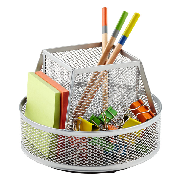 mesh rotating pencil cup the container store